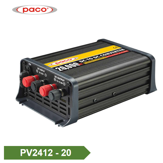 PK PK Konvertilo 24V al 12V Potenco Konvertilo 20Amp Featured Bildo
