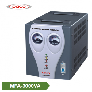 Automatic Voltage Stabilizer - tampilan meter 3000VA