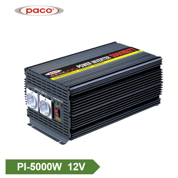 Tawm daim phiaj hwj chim inverter 12V 5000W Hloov Sine Wave Inverter Featured duab