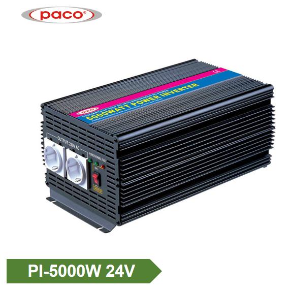 PACO Power Inverter Υψηλής Απόδοσης 24V 5000W Τροποποιημένο Sine Wave CE CB ROHS Επιλεγμένη εικόνα