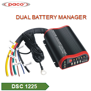 PACO 4 Stage Lithium Battery Charger For Electric Scooter DC DC & MPPT Solar Charger 25Amp.