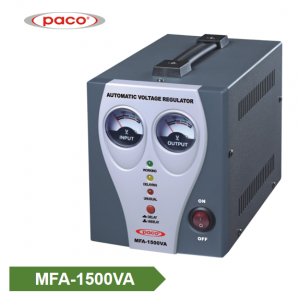 Automatic Voltage Stabilizer - tampilan meter 1500VA
