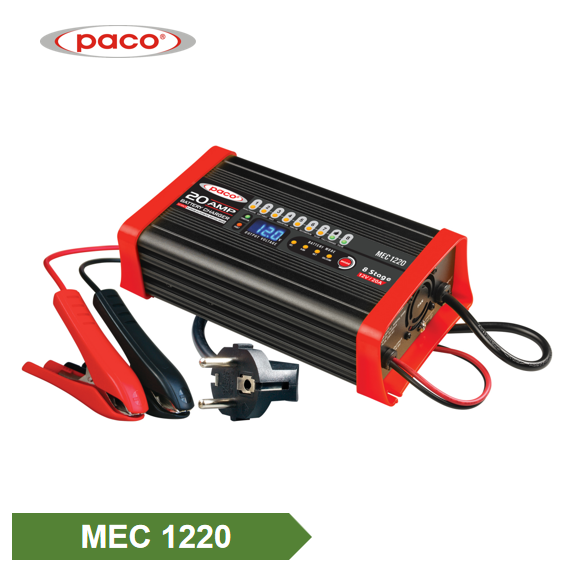 Awtomatikong Nagcha-charge 12V 20A 8 Stage Car Battery Charger Itinatampok na Larawan