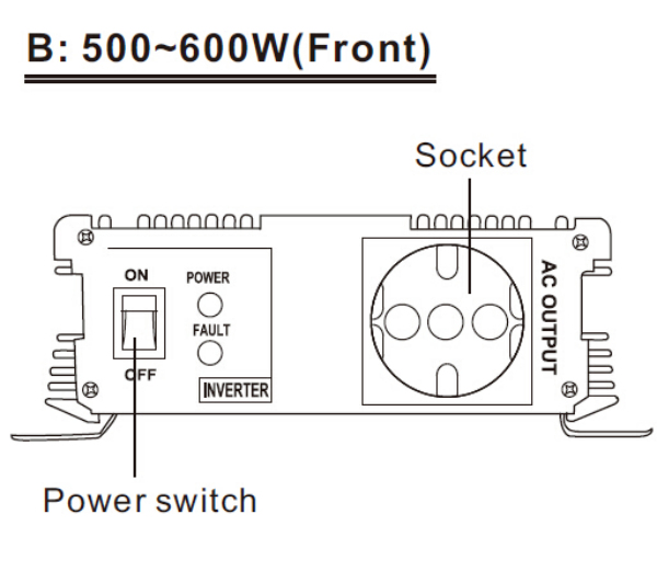 500-600W Front