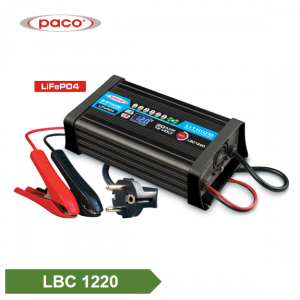 8 Stage 12V 20A lithium bide LiFePO4 Charger Pîlê