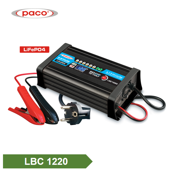 8 Stage 12V 20a automático de litio LiFePO4 Battery Charger Featured Image