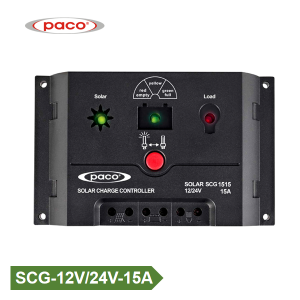 Three Charging Stage PWM Automatic 12V/24V 15A Solar Controller Factory