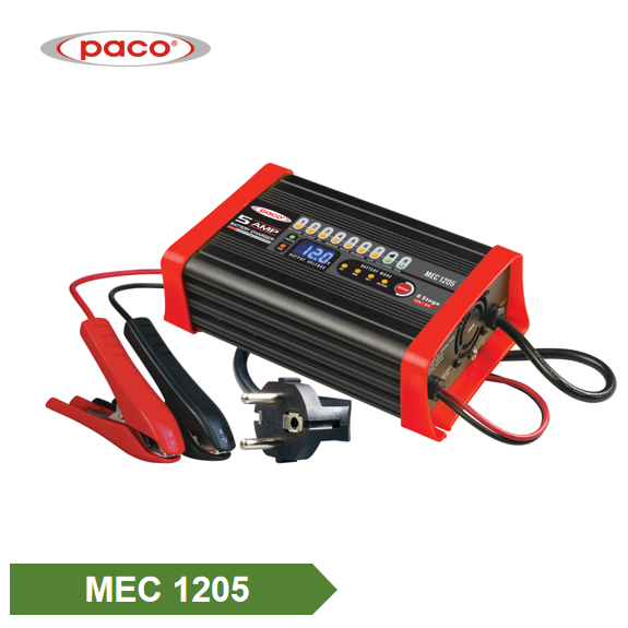 PACO High quality Car Motorcycle MEC 8-stage Power CE Rohs Lead Acid Battery Charger Featured Image