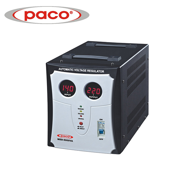 PACO Hot Selling Automatic Voltage Stabilizers/Regulators 5000VA Manufacturer Price Featured Image