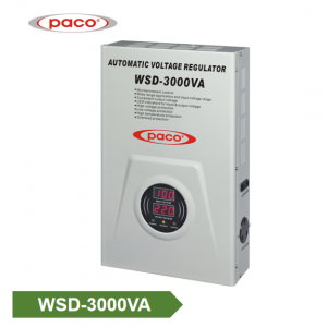 China PACO Wall Mounted Automatic Voltage Regulator WSD-3000VA for Electrical appliances