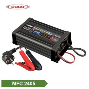 PACO 4 Charging Mode Portable Automatic Car Battery Charger with 8 Stage Charging 24V 5A