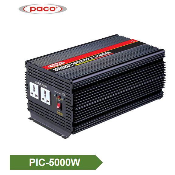 PACO Hot Selling DC/AC Power Inverter with Battery Charger 5000W CE CB ROHS Featured Image
