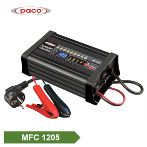 PACO New Lithium/Lead acid Auto Batteries Charger 12V 5A 8 Charging Stage 4 Select Mode